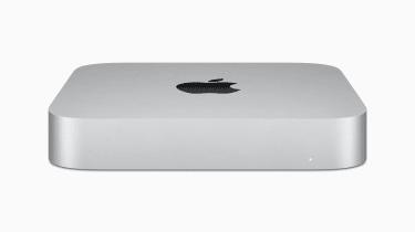 Mac Mini on white background