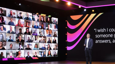 AWS CEO Andy Jassy speaking at the 2020 re:Invent