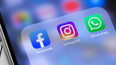 Apps for Facebook, WhatsApp and Instagram on a smartphone