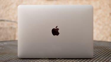Apple MacBook Pro 13in (Apple M1, 2020) lid from the rear
