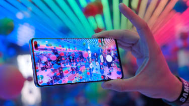 Samsung's S20 Ultra on display at last year's launch event