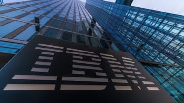 The IBM building from below