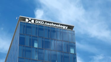 DXC Technology sign on headquarters building