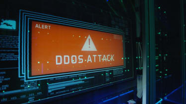 DDoS Attack on a screen