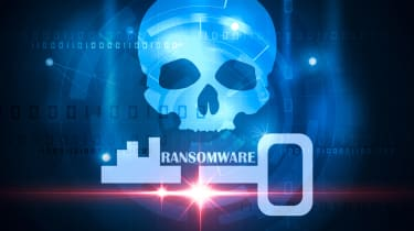 Skull and Key ransomware depiction