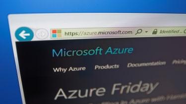 A Microsoft Azure web page