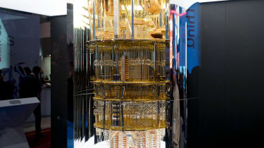 Quantum computer being displayed at CES 2020