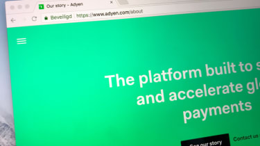 Website for the online payment platform Adyen