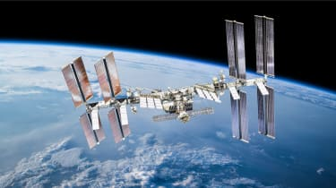 Shot of the International Space Station in orbit
