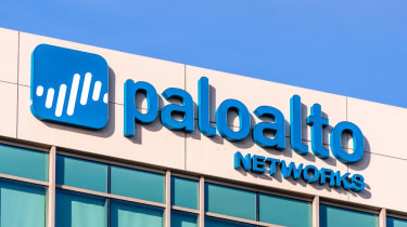 Palo Alto Networks sign at the Company headquarters in Silicon Valley