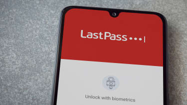 LastPass login screen on smartphone