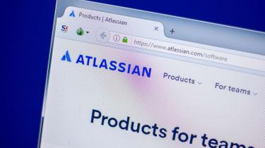 Atlassian logo on a computer screen