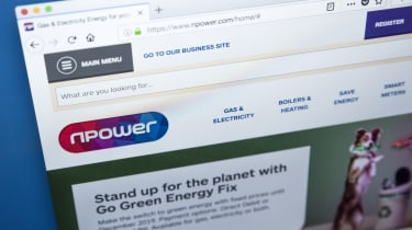 The Npower website as seen from a web browser