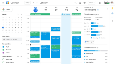 Google Workspace calendar with 'shift blocks'