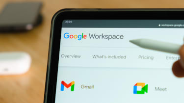 The Google Workspace suite being accessed on a tablet