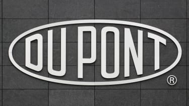 Dupont sign on a gray background