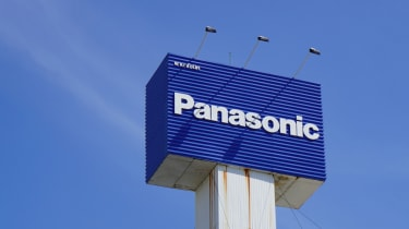 Panasonic advertisement and logo against blue sky in China Town, Bangkok