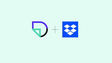 The DocSend and Dropbox logos on a green background