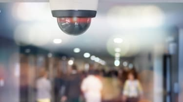 Security CCTV camera installed indoor