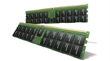 Artist rendition of Samsung's 512GB HKMG-based DDR5 RAM