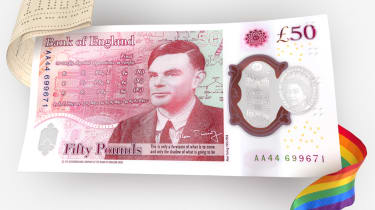 The Bank of England's new £50 note featuring Alan Turing