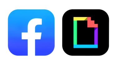 The logos of both Facebook and Giphy
