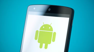 Android OS on a smartphone