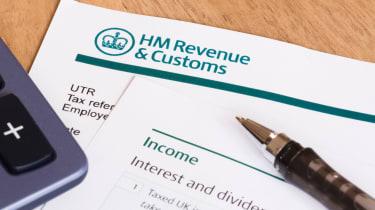 A calculator, a pen and a self-assessment income tax return
