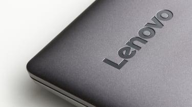 A Lenovo laptop lid