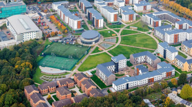 A birds-eye view of the University of Hertfordshire