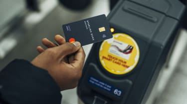 User paying for transport with Starling card
