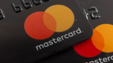 The Mastercard logo in a bank card