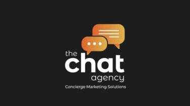 The Chat Agency logo on a black background