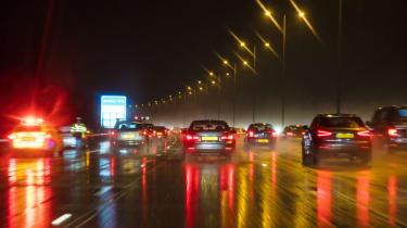 UK motorways at night