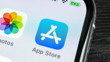 Apple's App Store shortcut displayed on a smartphone