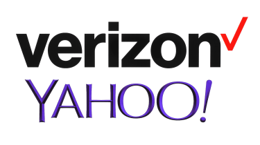 Verizon and Yahoo logos on a white background