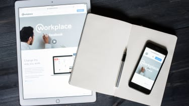 Facebook Workplace on a tablet