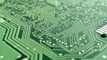 An image of a green circuit board