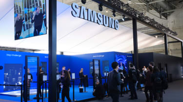 Samsung booth at Mobile World Congress 2019