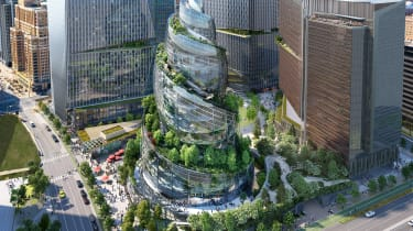 A design for Amazon's 'Helix' office building at its Virginia campus