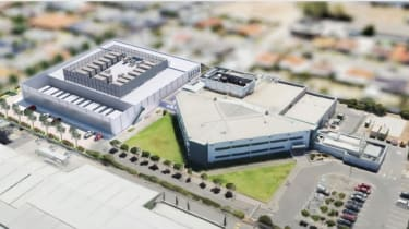 A visualisation of what the new data centre will look like