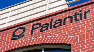 Brick building with Palantir sign on it