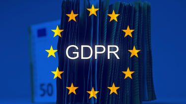 GDPR logo with a stack of Euro notes