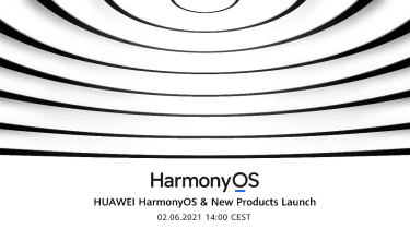 Promotional poster for the HarmonyOS launch