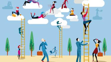 digital transformation cloud illustration