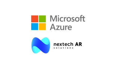 Microsoft Azure and Nextech AR logos on a white background
