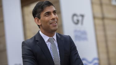 Chancellor Rishi Sunak making a statement at the conclusion of the G7 Finance Ministers' Meeting