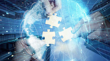Jigsaw puzzle pieces representing digital collaboration
