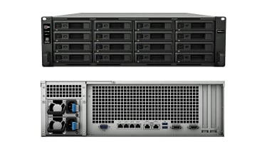 Synology RackStation RS4021xs+ front and rear