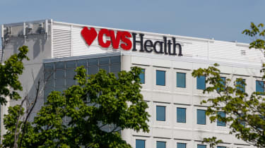 CVS health sign on a white building